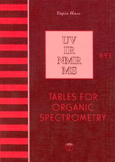 Tables for organic spectrometry